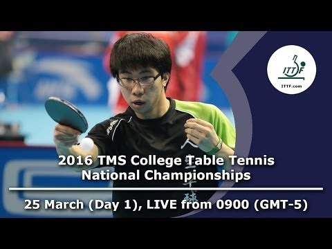 2016 TMS College Table Tennis National Championships - Day 1, Table 2