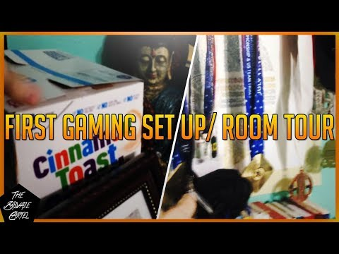 GAMING SET UP/ ROOM TOUR BOYZZZ!! (MY FIRST GAMING/YOUTUBE SET UP)