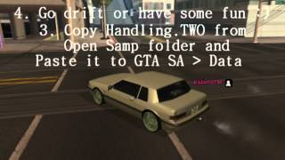 GTA SA: How To Get Open Samp / Handling Lines On SAMP 0.3e