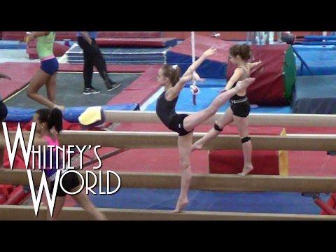 Gymnastics Team Practice on Beam | Whitney Bjerken