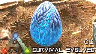 ARK: SURVIVAL EVOLVED - WYVERN EGG A THIEVES LUCKY START !!! E01 (MODDED ARK PUGNACIA DINOS)