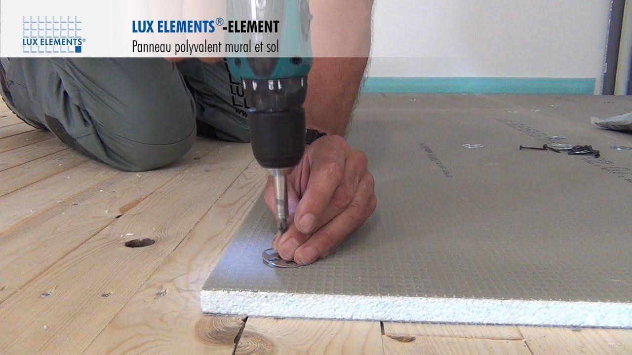 Lux elements montage element panneau polyvalent sur plancher bois youtube - Plancher bois hydrofuge ...