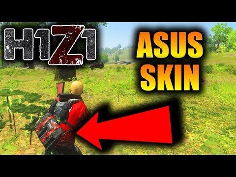 SUPER RARE ASUS ROG BACKPACK SKIN SHOWCASE! H1Z1 Most RARE skin Gameplay!