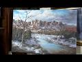 Snowy Sedona, AZ landscape | Painting Demo