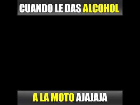 Cuando le das alcohol a la moto