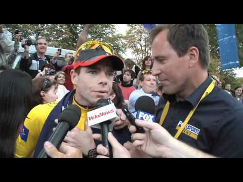Cadel Evans after winning the 2011 Tour de France