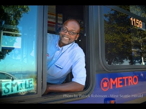 "Reggie ""Smiley"" Wilson is a happy bus driver"