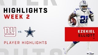 Ezekiel Elliott Highlights vs. NYG!