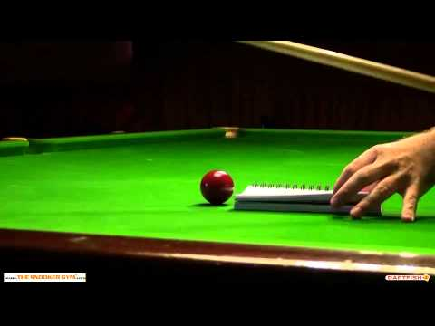 Nic Barrow Snooker Coaching Dartfish Analysis Ali A Screw Shot Training