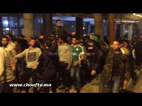 طنجاوة يحتفلون بشوارع عاصمة البوغاز بعد تتويج الرجاء