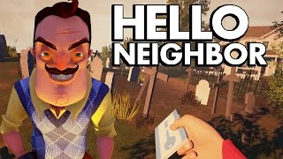 EXPLORING THE BASEMENT | FLYING TO A GRAVEYARD | GETTING PAST THE SECRET DOOR - HELLO NEIGHBOR