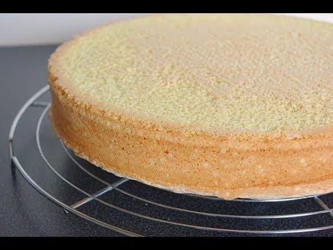 Cake Design Recette Genoise : Recette de genoise Sponge cake recipe - YouTube
