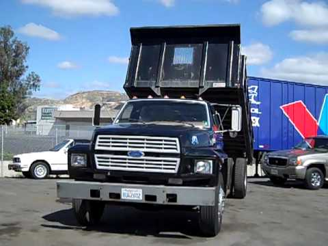 0 1994 Ford F 700 Dump Flatbed Work Truck For Sale 77k orig miles