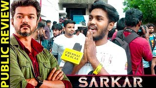 "Sarkar Movie Review by Public | The Real Review by Neutral Fans | Im Waiting Scene"" - Semma Mass!"