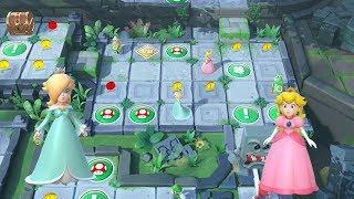 Super Mario Party Partner Party #266 Domino Ruins Treasure Hunt Rosalina & Peach vs Luigi & Mario