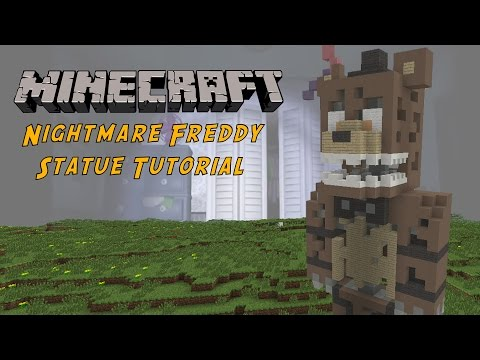 Minecraft Tutorial: Nightmare Freddy (Five Nights At Freddy's 4) Statue