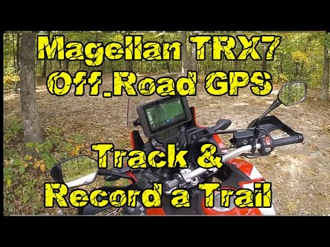 Magellan TRX7 Off Road GPS Recording a Track with the Honda Africa Twin