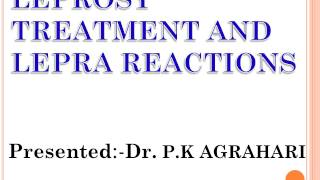leprosy treatment and lepra reaction