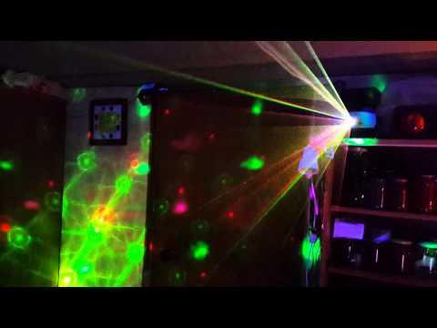 Лазерная дискотека в подвале у вас дома!