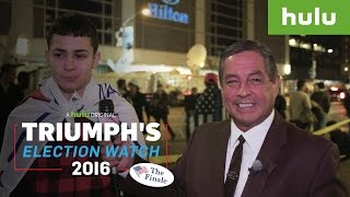 Trump Supporters Get Owned By Bilingual Reporter on Election Night • Triumph on Hulu
