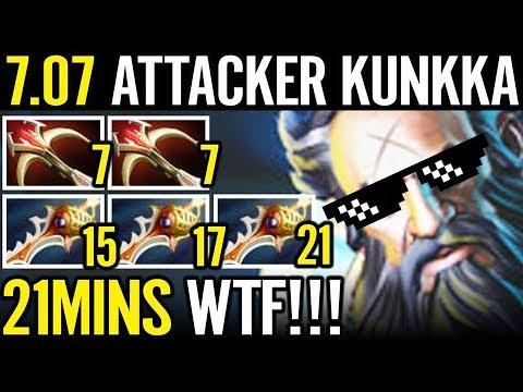 TURBO MODE is INSANE 1k8 GPM Kunkka Attacker 3x Rapier 2x Dedalus 21 Min WTF Dota 2