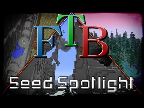 Minecraft Feed the Beast Unleashed Seed - Exposed Stronghold/Dual Dungeon/Epic Mountains / Ravines