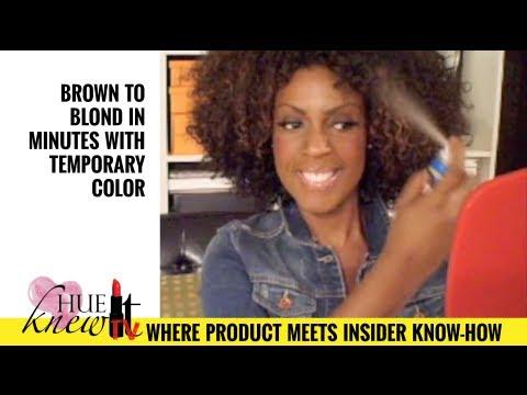 Hair Color Tutorial for Natural & Chemically Treated Hair - Temporary Hair C