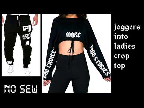 Convert/Recycle/Reuse Old Leggings into Crop Top /old Leggings Reuse|| (Hindi)