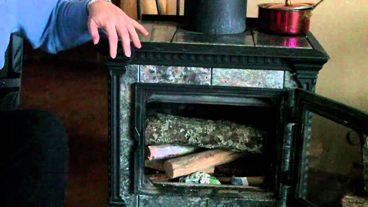build fire in wood stove