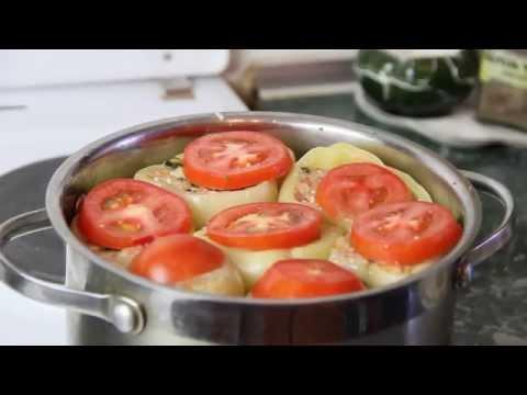 Как приготовить перец фаршированный мясом и рисом   Вкусный фаршированный перец - Рецепт