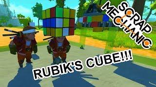 Rubik's Cube with Brent Batch and Alstrak ( Scrap Mechanic Mods & Creations Gameplay )