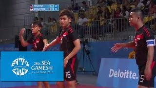 Sepak Takraw Men's Team Event MAS vs SIN 3rd Regu(Day 4) | 28th SEA Games Singapore 2015