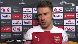 "Ramsey: ""We want to finish in the top four and reach Europa League semis!"" Arsenal 2-0 Napoli"