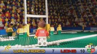 LEGO Rugby - Lions v Australia first test