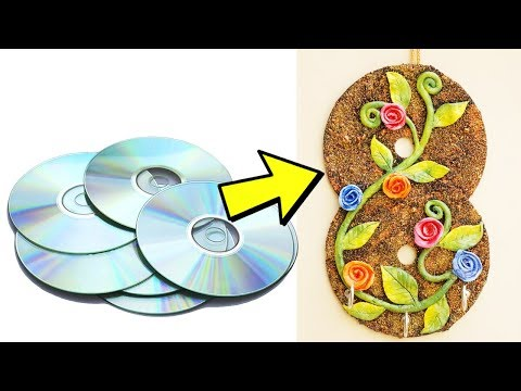 How to Make Key Holder Using Old CD | Reuse Old CD | Easy Best Out of Waste