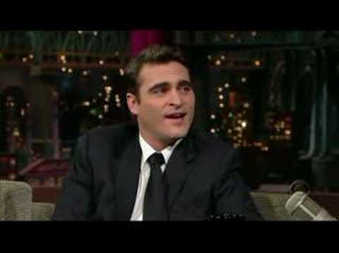 Joaquin Phoenix on Letterman Video