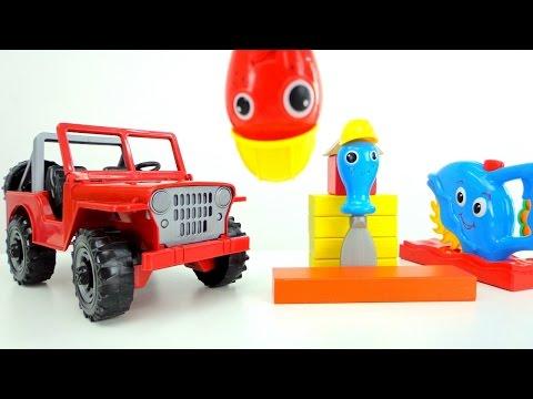 Машинки для детей - Строительные инструменты чинят джип