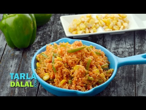Mexican Fried Rice by Tarla Dalal