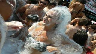 AYIA NAPA ,Cyprus 2009 (Nissi Beach).....foam party