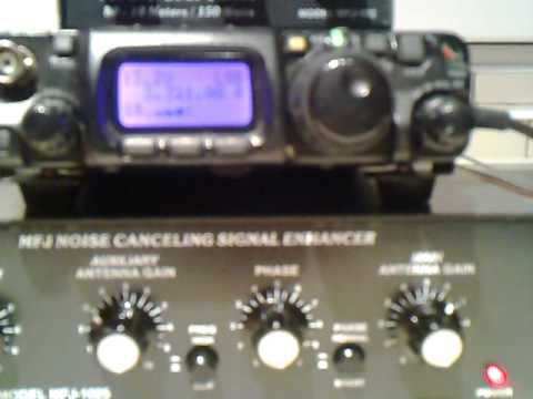 MFJ 1025 Noice Cancelling Signal Enhancer demonstration