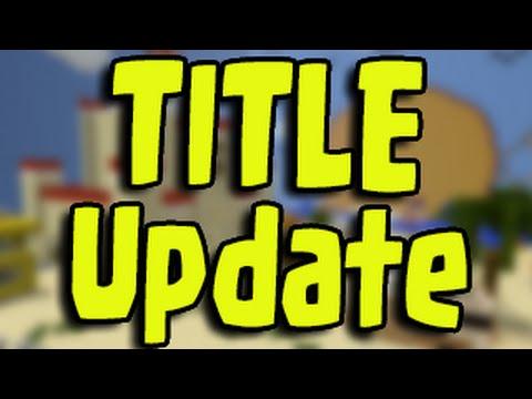 Minecraft PS3, PS4, Xbox - Title Update TU26 / TU27 / TU28 Minecon No Release