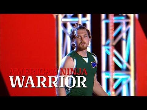 Tim Shieff at Stage 1 of American Ninja Warrior USA vs. The World 2014   American Ninja Warrior
