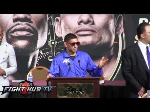 Mayweather vs Maidana full undercard press conference w Amir Khan  JLeon Love