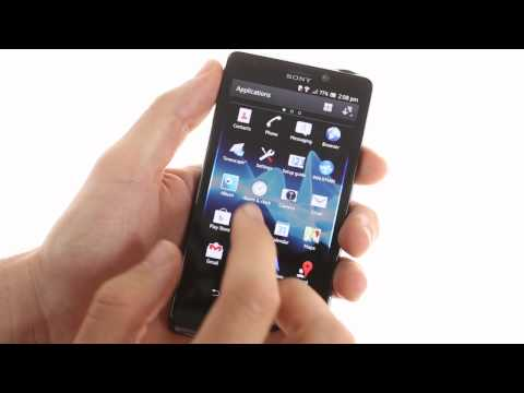 Sony Xperia T user interface demo