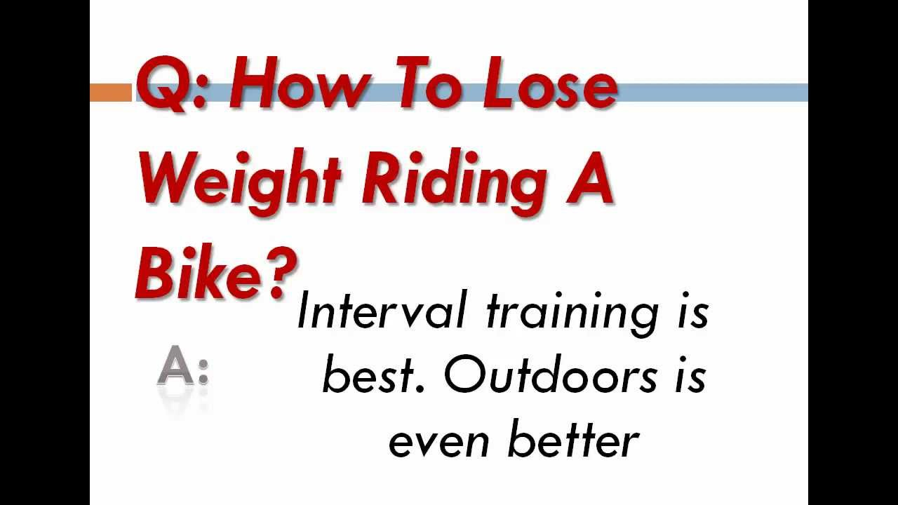 How to lose weight by riding a bicycle