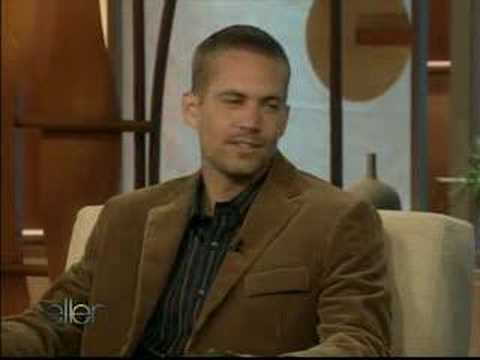 Paul Walker on Ellen Video