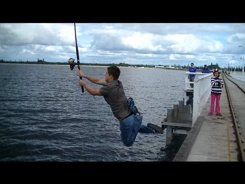 Epic fishing fail youtube for Fishing license for disabled person