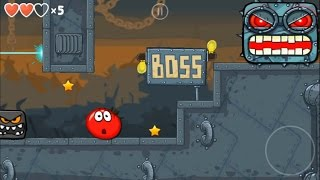 Red Ball 4 Tomato Ball Fight The Box Factory Boss (Level 44 & 45)