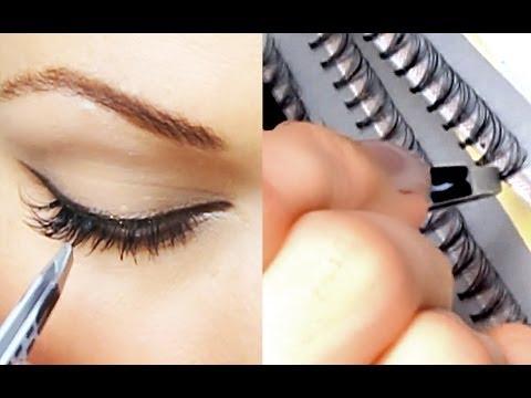 Уроки макияжа. Универсальный макияж + накладные ресницы. Как наклеить ресницы