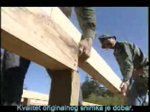 Градња дрвене куће 1 - под, степенице